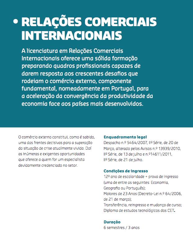 Licenciatura em Comércio Internacional