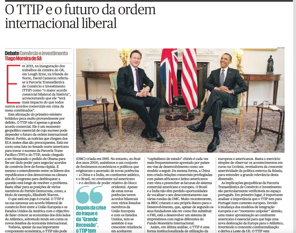 O TTIP e o futuro da ordem internacional liberal