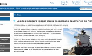 Porto de Leixões inaugura ligação direta ao mercado da América do Norte