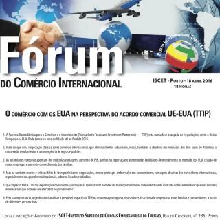 A Parceria Transatlântica (TTIP)  em discussão no Fórum do Comércio Internacional