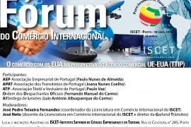 Fórum do Comércio Internacional, ISCET, 18 de Abril, 18h00
