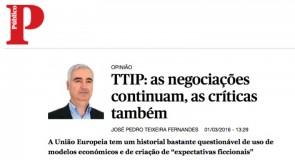 TTIP: as negociações continuam, as críticas também