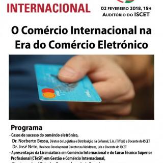 Fórum Júnior do Comércio Internacional,  Auditório do ISCET,  2 de Fevereiro de 2018