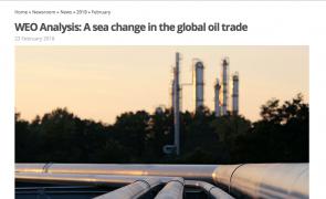 Mudanças profundas no comércio mundial de petróleo
