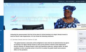 Ngozi Okonjo-Iweala será a nova directora-geral da OMC